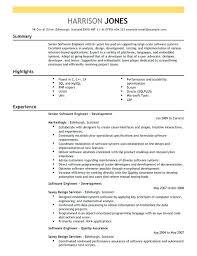 curriculum vitae software engineer templates free software developer sle resume buckey us