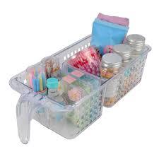 2 compartment storage basket with handle wilko plastic storage