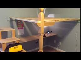 Build Loft Bed With Stairs by Dyi Loft Bed With Stairs And Desk Youtube