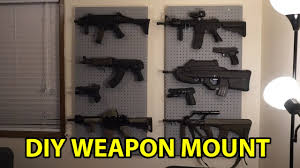 Wall Mounted Gun Safe How To Weapons Wall Mount Youtube
