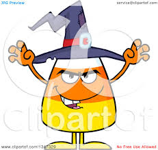 cartoon halloween pic clipart of a cartoon halloween candy corn character wearing a