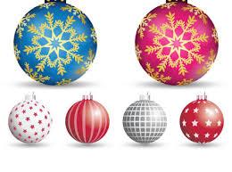 decorative tree balls vector holidays icons free