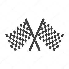 Checkered Flag Eps Two Cross Checkered Flags For Start And Finish Racing Flags