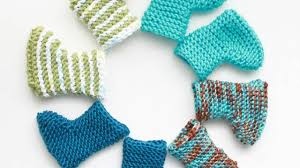 how to knit fast and cute baby booties diy crafts tutorial