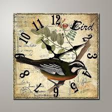 Grande Horloge Murale Carrée En Bois Vintage Achat Grossiste Horloge Murale Carrée En Bois Acheter Les Meilleurs