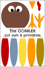 the gobbler cut outs printables thanksgiving crafts for