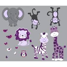 jungle stickers with zebra wall art for girls rooms gray jungle stickers with zebra wall art for girls rooms
