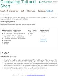 lesson plans for kindergarten math education com