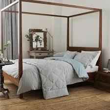 Duck Egg Blue Bed Linen - blue jacquard bed linen sanderson china blue bedding at bedeck 1951