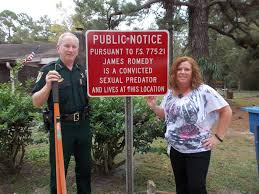 nassau sheriff posts signs in front of predator homes for