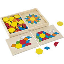 amazon com melissa u0026 doug beginner wooden pattern blocks