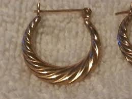 14 carat gold earrings 14 karat gold earrings 1 57 grams 45 jewelry accessories in