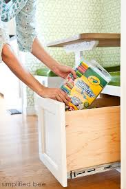 Kitchen Nooks With Storage by My Kitchen Nook Reveal Simplified Bee