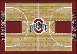 college basketball court ohio state university 100 stainmaster