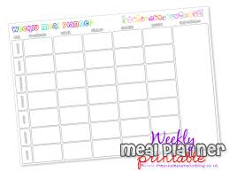 lunch box planner template weekly meal planner free printable