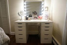 diy vanity makeup table dark wooden bed frame sliding door metal