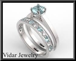 aquamarine wedding aquamarine wedding ring set vidar jewelry unique custom