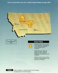 Nuclear Fallout Map by Nuclear War Fallout Shelter Survival Info For Montana With Fema