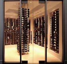 lavish mounted rack of wine cellar design made metal with glass