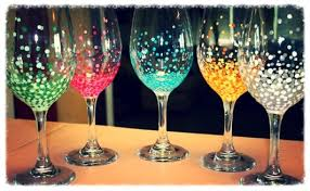 wine glass painting paint