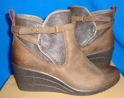 ugg australia womens emalie brown stout leather ankle boot 7 ebay ugg australia emalie stout waterproof leather ankle boots size us 6