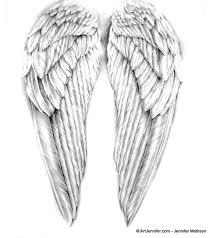 angel wings drawing artjennifer prayer for healing strength