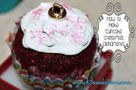 how to make cupcake ornaments