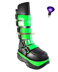 womens boots size 8 9 ebay demonia neptune 310uv mens uv blacklight neon green raver cyber