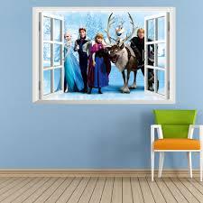 3d animation frozen aisha princess home decor wall stickers pvc