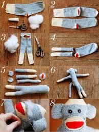 sock monkey pattern and video instructions monkey socks and craft