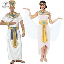 Egyptian Pharaoh Halloween Costume Rolecos Brand Men Women Kids Halloween Costumes Ancient