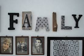 Dekobuchstaben Wohnzimmer Mamas Kram Family