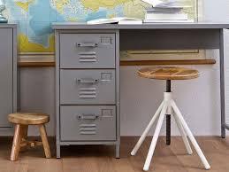 bureau couleur bureau en métal gris 3 tiroirs maxim couleur gris