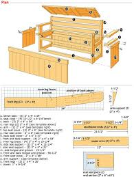Outdoor Garden Bench Plans by Best 25 Deck Storage Bench Ideas On Pinterest Garden Storage