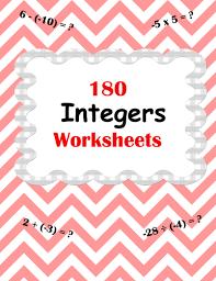 integer worksheets addition subtraction multiplication and