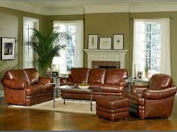 What Color Goes With Brown Furniture by Living Room Brown Leather Upholstery Sofa Set Ottoman With White