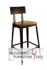 Metal Bar Stools With Wood Seat Modern Industrial Simon Metal Restaurant Bar Stool W Reclaimed
