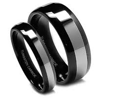 black mens wedding ring tungsten carbide rings 8mm tungsten carbide brushed black mens