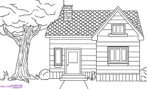 easy drawing of a house how to draw a house step step buildings