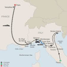 French Riviera Map France And Italy Tours Globus Europe Tour Packages