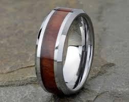 mens wedding bands wood inlay wood inlay ring etsy