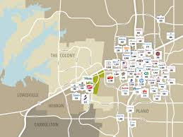 Map Of Dallas Fort Worth by Surrounding Area Grandscape