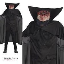 headless costume kids boys headless horseman sleepy hollow fancy dress