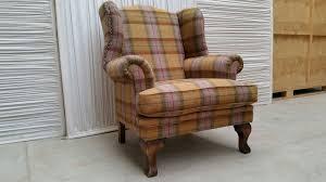 Tartan Armchairs Tweed Tartan Chesterfield Style Sofa And Wingback Armchair Home