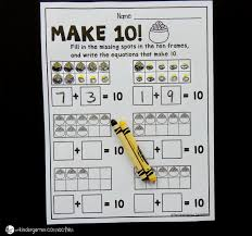 free st patrick u0027s day make 10 worksheets