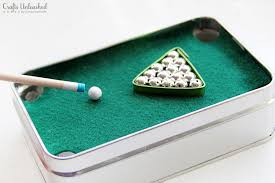 diy gift for dad mini pool table in a tin crafts unleashed