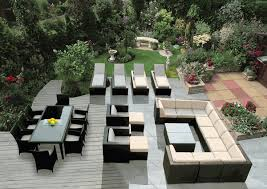 OUTDOOR PATIO FURNITURE WICKER SOFA DINING AND CHAISE LOUNGE - Outdoor furniture set