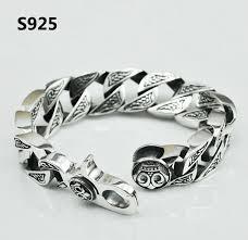 bracelet silver mens images V ya pure handmade men jewelry 100 925 sterling silver bracelet jpg