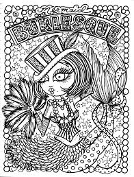 mermaid burlesque coloring book review coloring queen