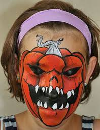 Awesome Scary Halloween Costumes Scary Pumpkin Face Paint Frightfully Good Scary